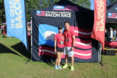 The Great American Bacon Race had participants of all ages smiling.