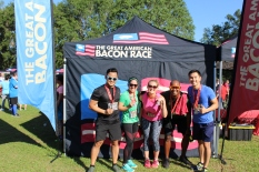 Lindsey and friends at The Great American Bacon Race.