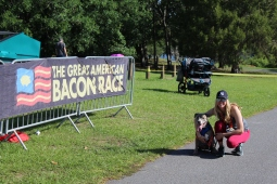 The Great American Bacon Race was open to all family members, especially our 4-legged friends.